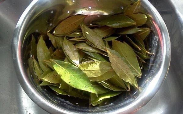 Дафинови листа в метален съд