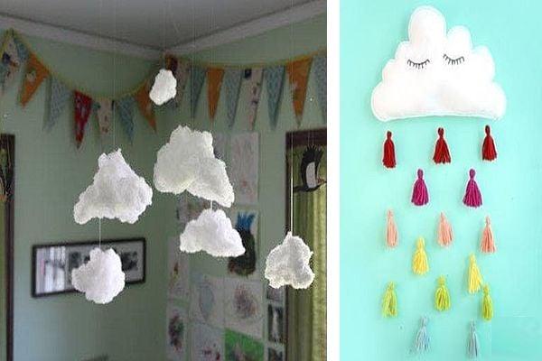 Декорация с облаци