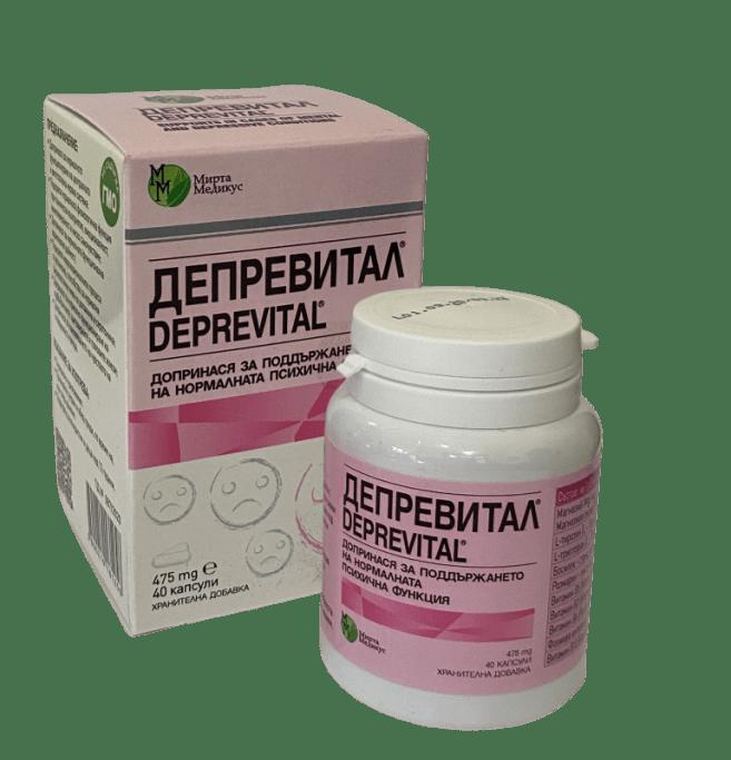 Депревитал Допринася за нормалното функциониране на централната и вегетативна нервна система