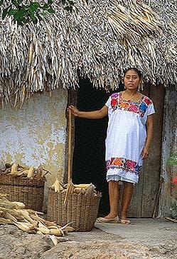 Съвременна жена, принадлежаща етнически към маите