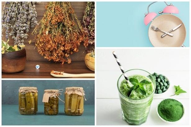 горчиви билки, прекъснато гладуване, ферментирали храни,хлорофил