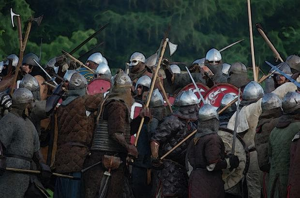 Дигитално изображение на викинги