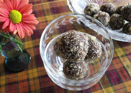 шоколадови трюфели с джинджифил