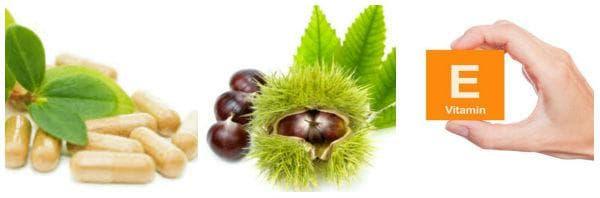 Добавки за лечение при разширени вени - витамин Е, витамин К, конски кестен и други