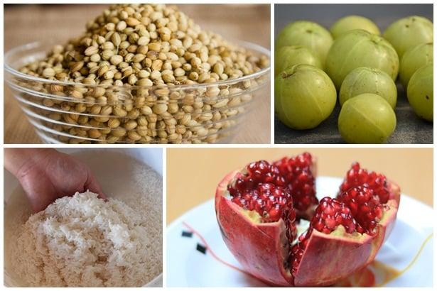 Семена кориандър, амла,ориз,нар
