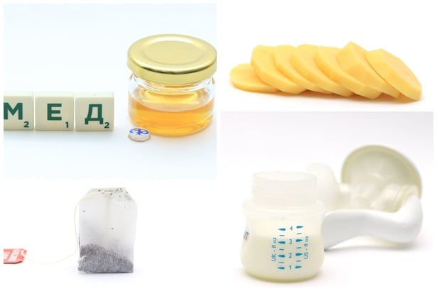 мед,суров карто,пакетче чай,кърма изцедена