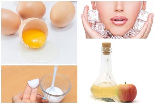 яйце,лед,сода,оцет