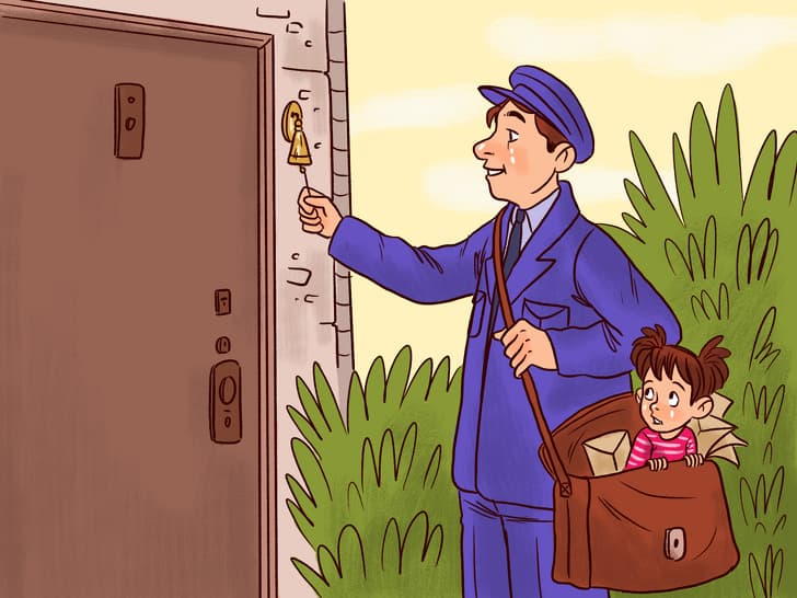 дете по пощата