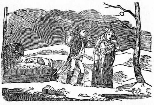 Гравюра, изобразяваща емигранти от 1816