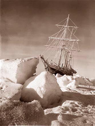 Корабът Ендюрънс, оригинална снимка