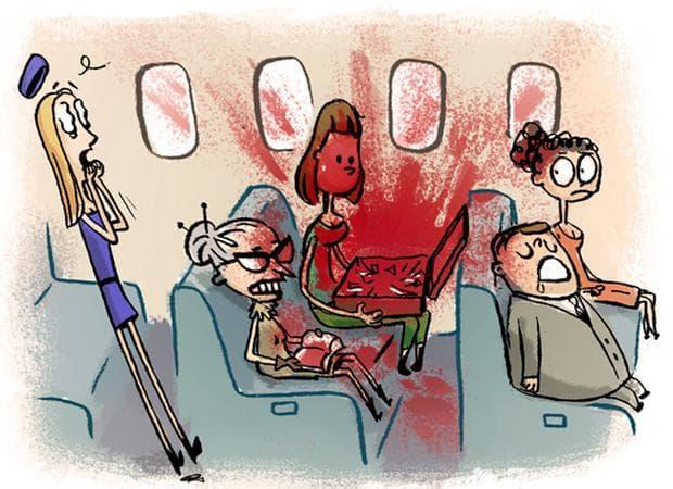 Кръв в самолета