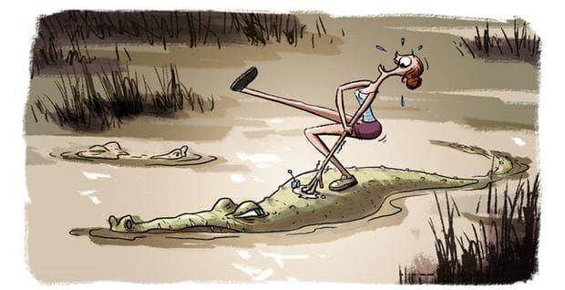 Жена и крокодил