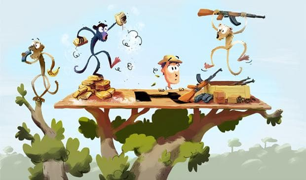 Маймуни на дърво с наркотици