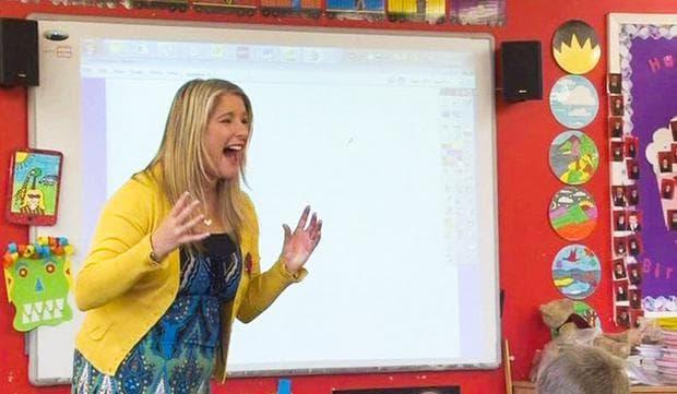 учителка, която крещи