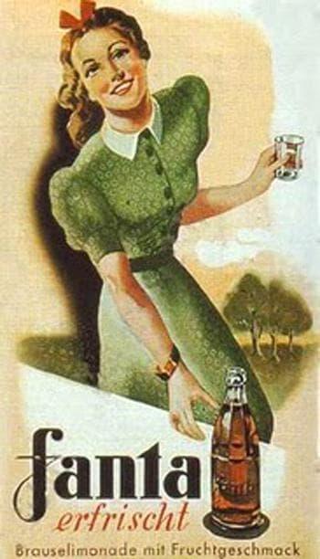 """Стар немски плакат, рекламирая """"Фанта"""""""