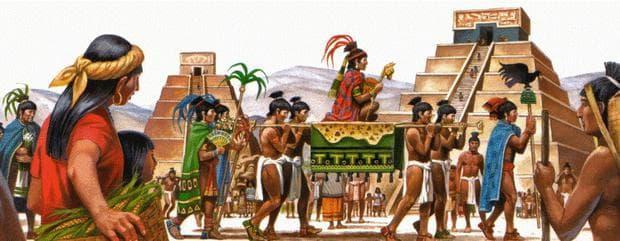 Съвременна рисунка на Теночтитлан