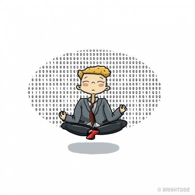 човек медитира