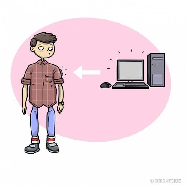 човек и компютър