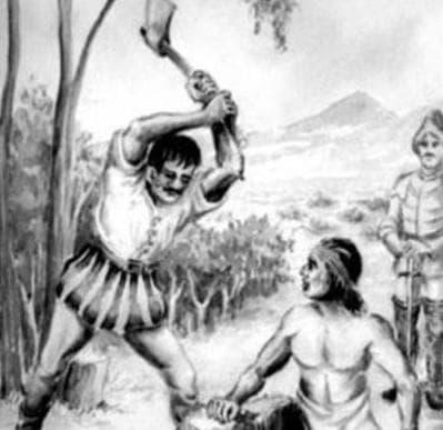 Осакатяването на Галварино, илюстрация