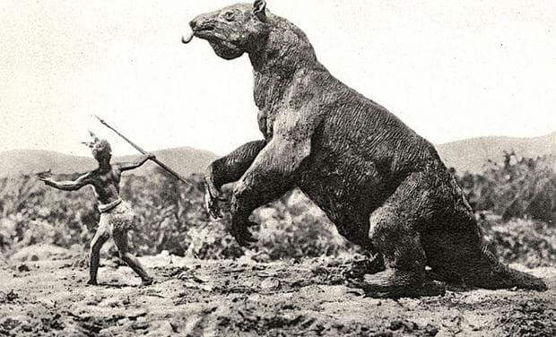 Възстановен образ на гигантски ленивец