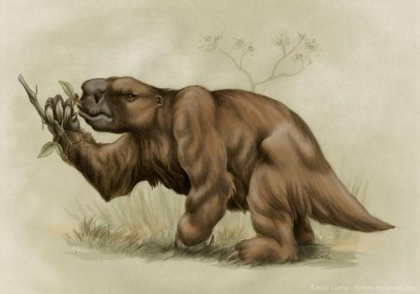 Гигантски праисторически ленивец