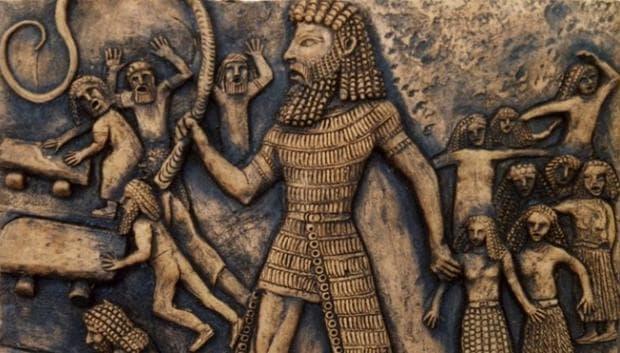 Стенопис, изобразяващ цар Гилгамеш