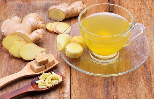 корен джинджифил и чай