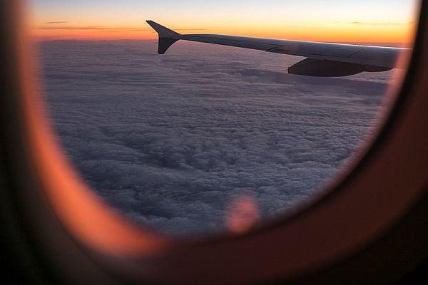 гледка от самолета