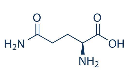 Структурна формула на глутамин