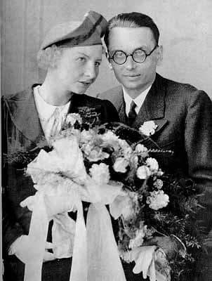 Курт Гьодел и неговата съпруга
