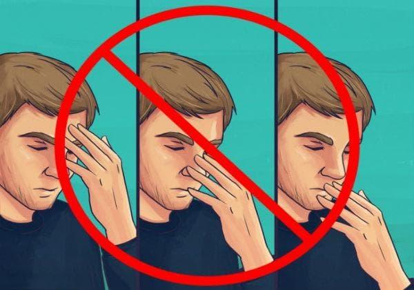 Избягвайте да докосвате очите, носа и устата си