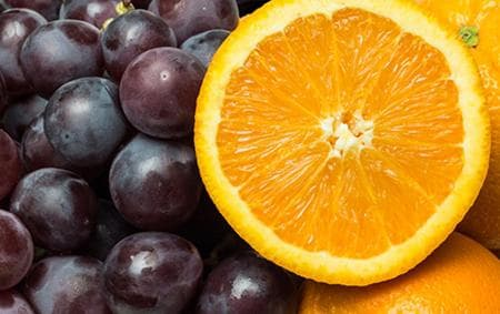 грозде и портокал