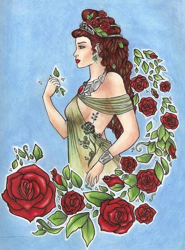 гръцка легенда за розата