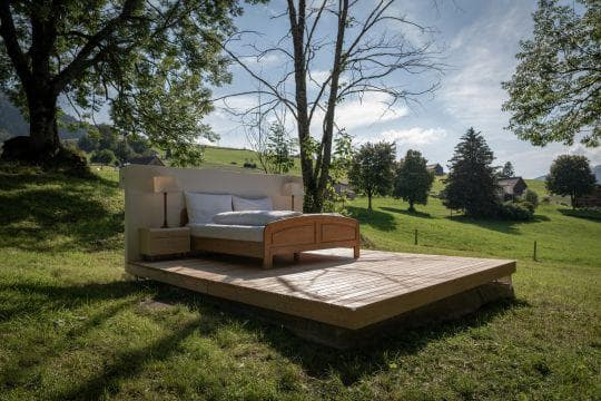 легло насред природата