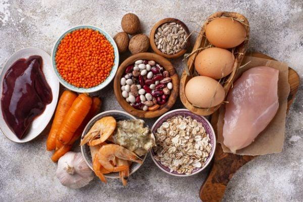 Растителни и животински хранителни продукти, богати на цинк.