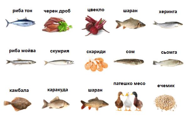 Храни, богати на хром, са много морски риби и, черен дроб и други.