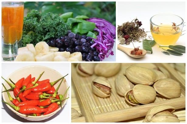 плодове и зеленчуци,чай,люти чушки,шам фъстък