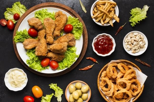 Пържени храни, които могат да предизвикат киселинен рефлукс.