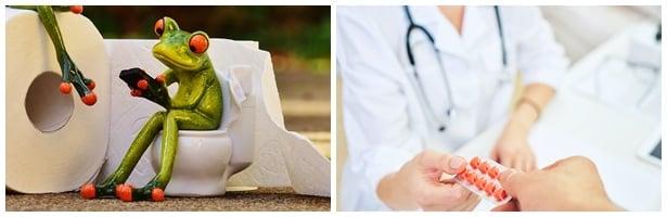 При липса на ефект от диетата при диария се консултирайте с лекар за подходящи лекарства