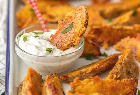 пикантни картофи с бадемова коричка