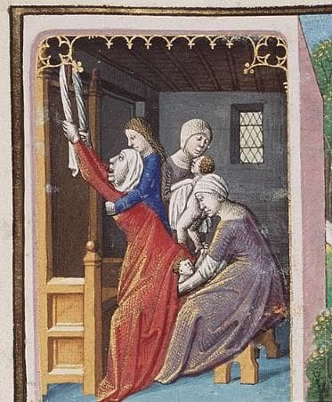 Илюстрация на ераждаща жена от епохата на Ренесанса