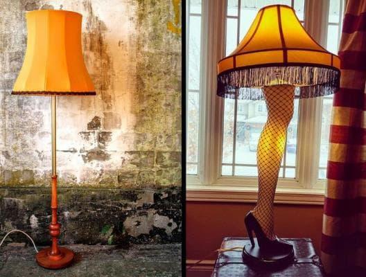лампи, които имитират женски крак