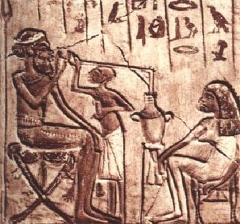 Египетски стенопис, изобразяващ пивоварна