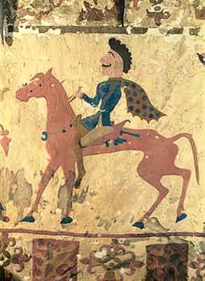 Изображение на конник от Културата Пазърък