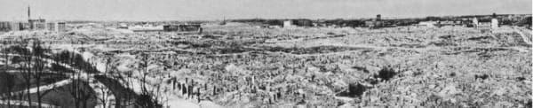 Снимка на сринатото Варшавско гето