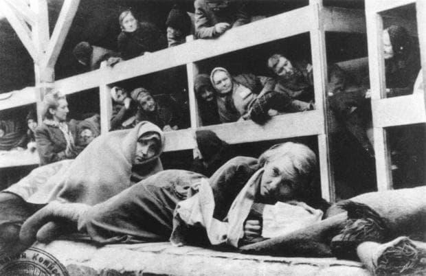 Затворнички в нацистки лагер