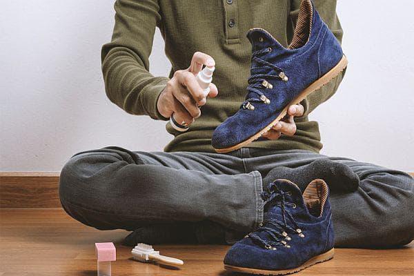 намокряне на велурени обувки