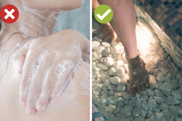 Измивайте тялото с душ гел през 2 дни.