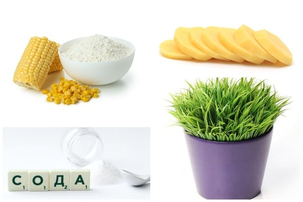 царевично нишесте,картоф,сода,житна трева