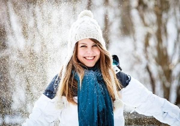 Жена в снега